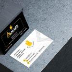 σχεδιασμός και εκτύπωση επαγγελματικών καρτών ανάγλυφων Θεσσαλονίκη κατασκευαστική εταιρεία λογότυπο Βέλγιο